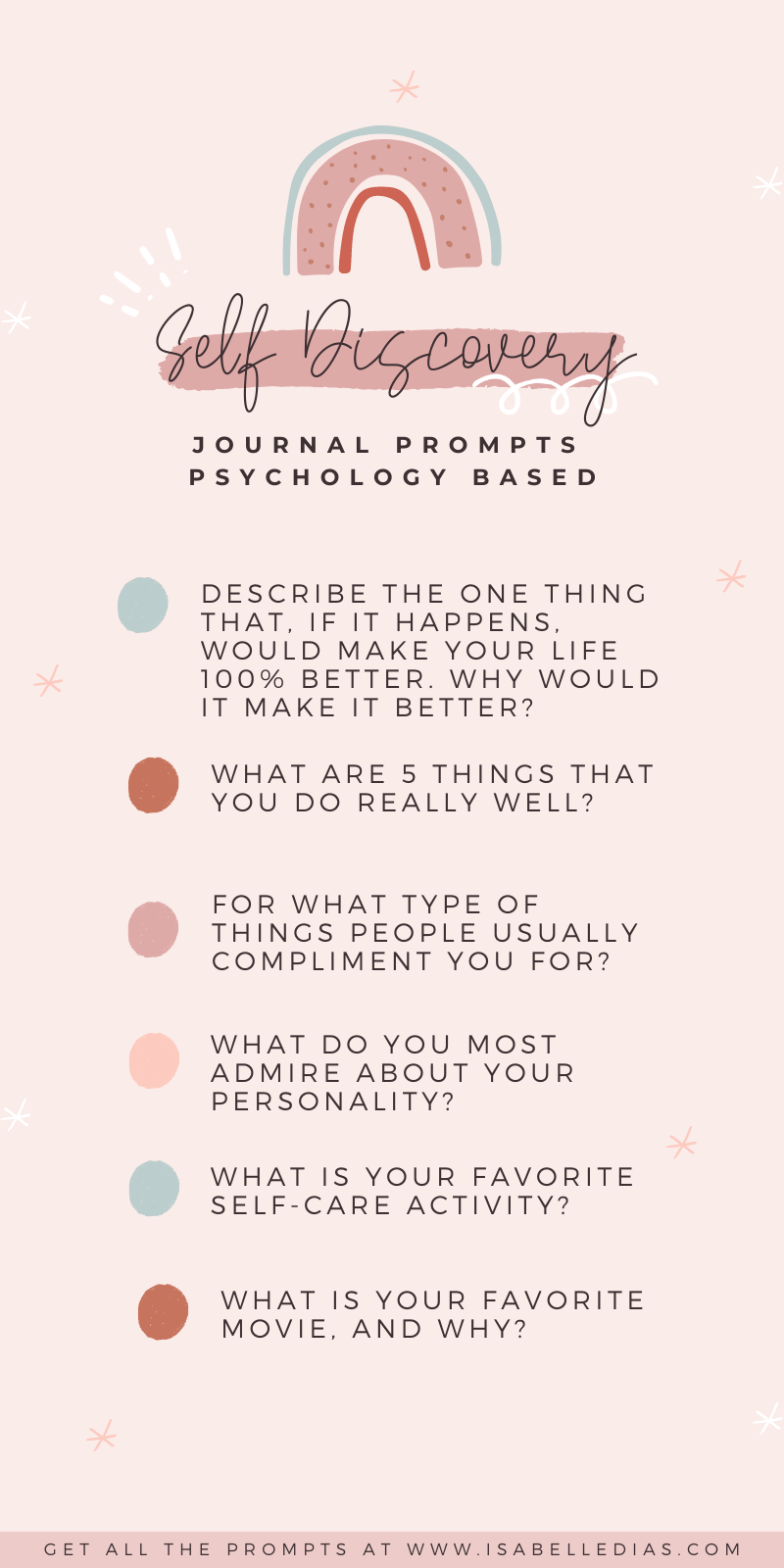 Self Discovery Journal Prompts Questions for Personal Development