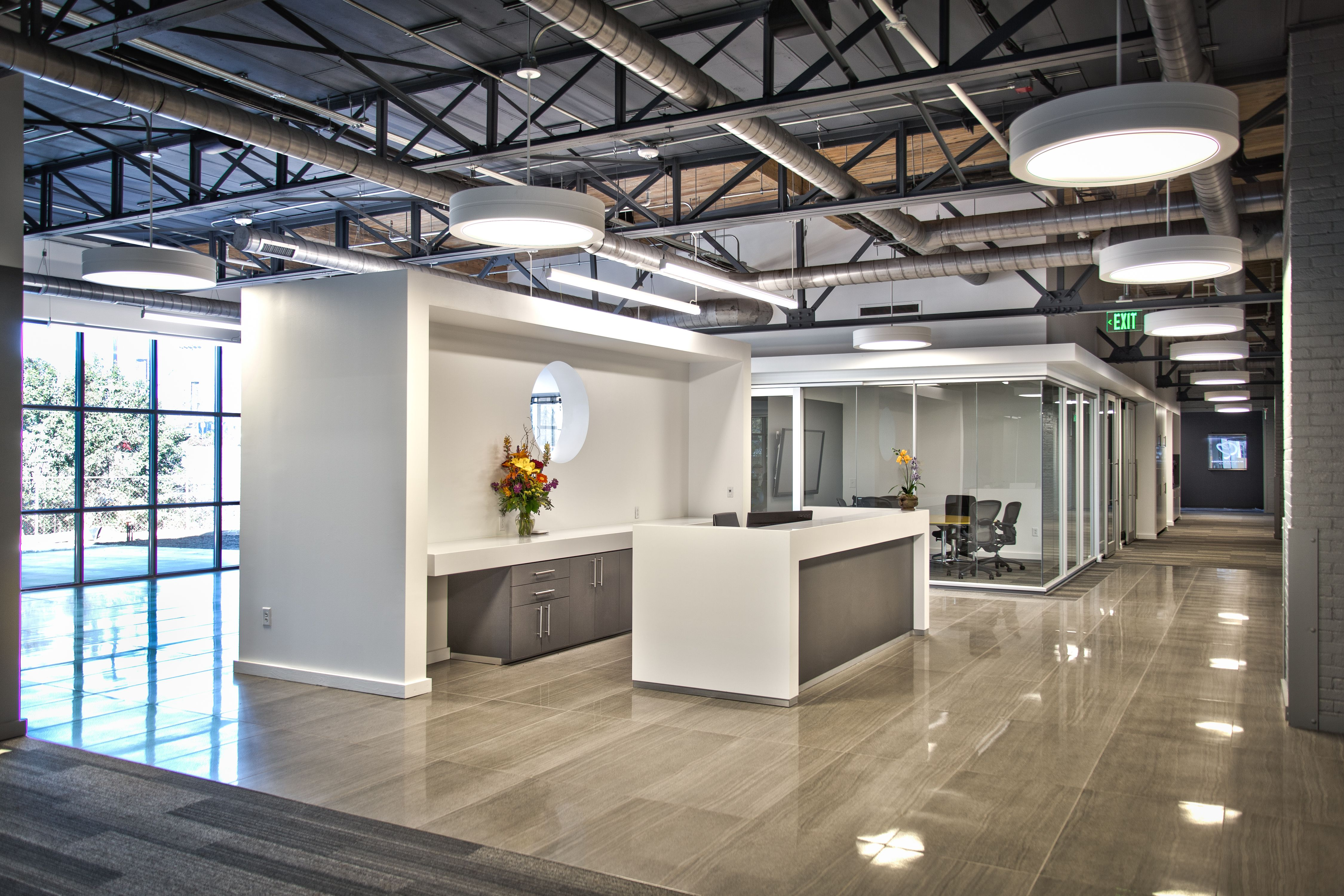Exposed ceiling trusses office google search for Exposed roof truss design