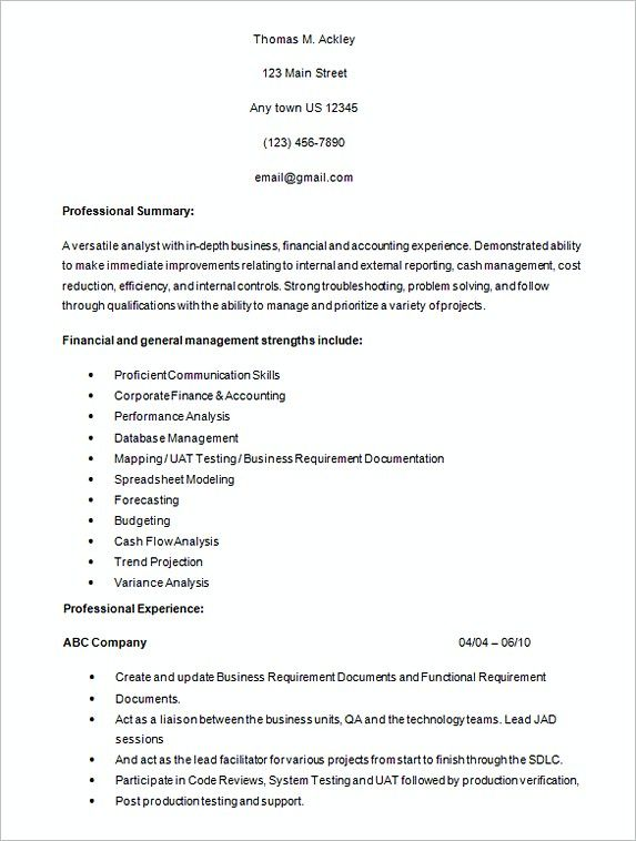 Healthcare Business Analyst Resume.Healthcare Business Analyst Resume Sample Analyst Resume