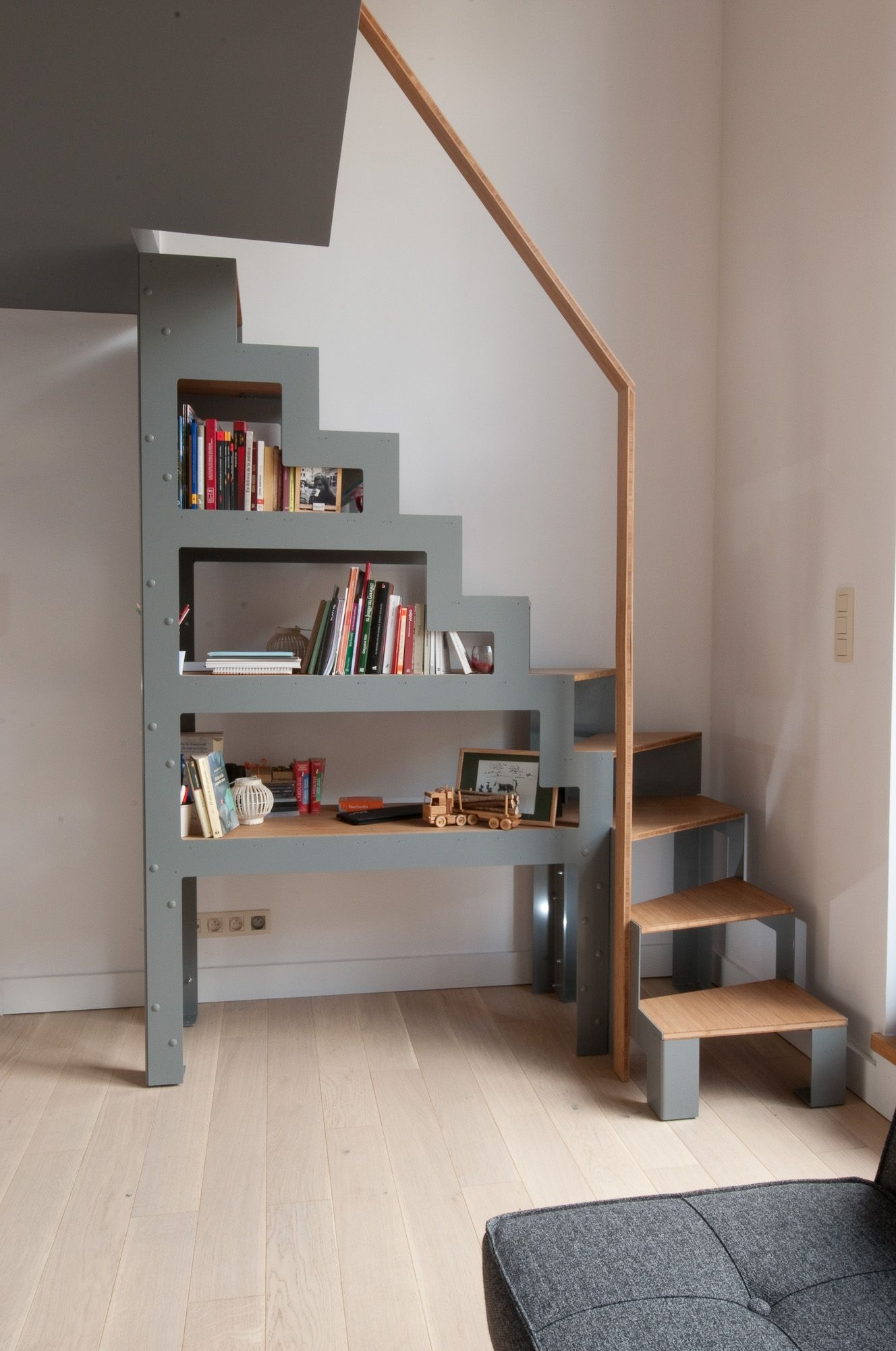Stairs Shelving Libro Is A Free Staircase A Cross Between Shelving And