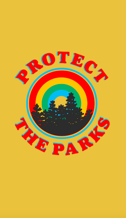 Protect The Parks Retro Aesthetic Environmentalist Sticker Sticker By Lexie Pitzen Aesthetic Wallpapers Retro Aesthetic Retro Wallpaper