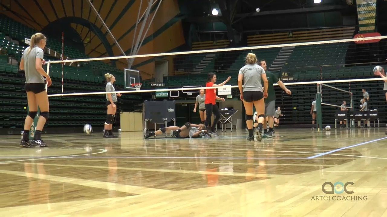 3 Station Circuit Drill Improves Defensive Play The Art Of Coaching Volleyball Coaching Volleyball Volleyball Practice Volleyball Drills