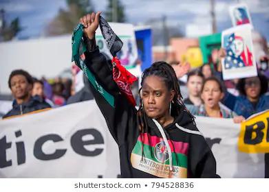 Black Lives Matter Sunday Protest Downtown Stock Photo Edit Now 483296818 Photo Editing Mlk Stock Photos