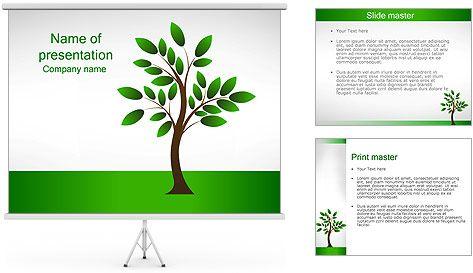 New Tree Powerpoint Template Powerpoint Pinterest Template