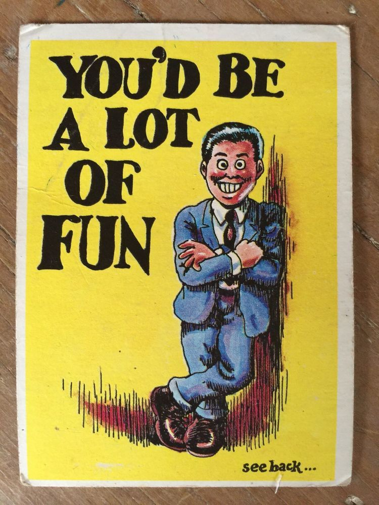 1965 topps monster greeting 24 r crumb art youd be a lot