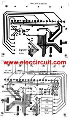 High current adjustable voltage regulator circuit, 0-30V