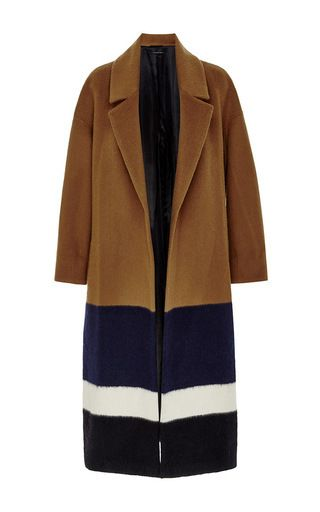 Brampton Wool Mohair Striped Wrap Coat by MOTHER OF PEARL Now Available on Moda Operandi