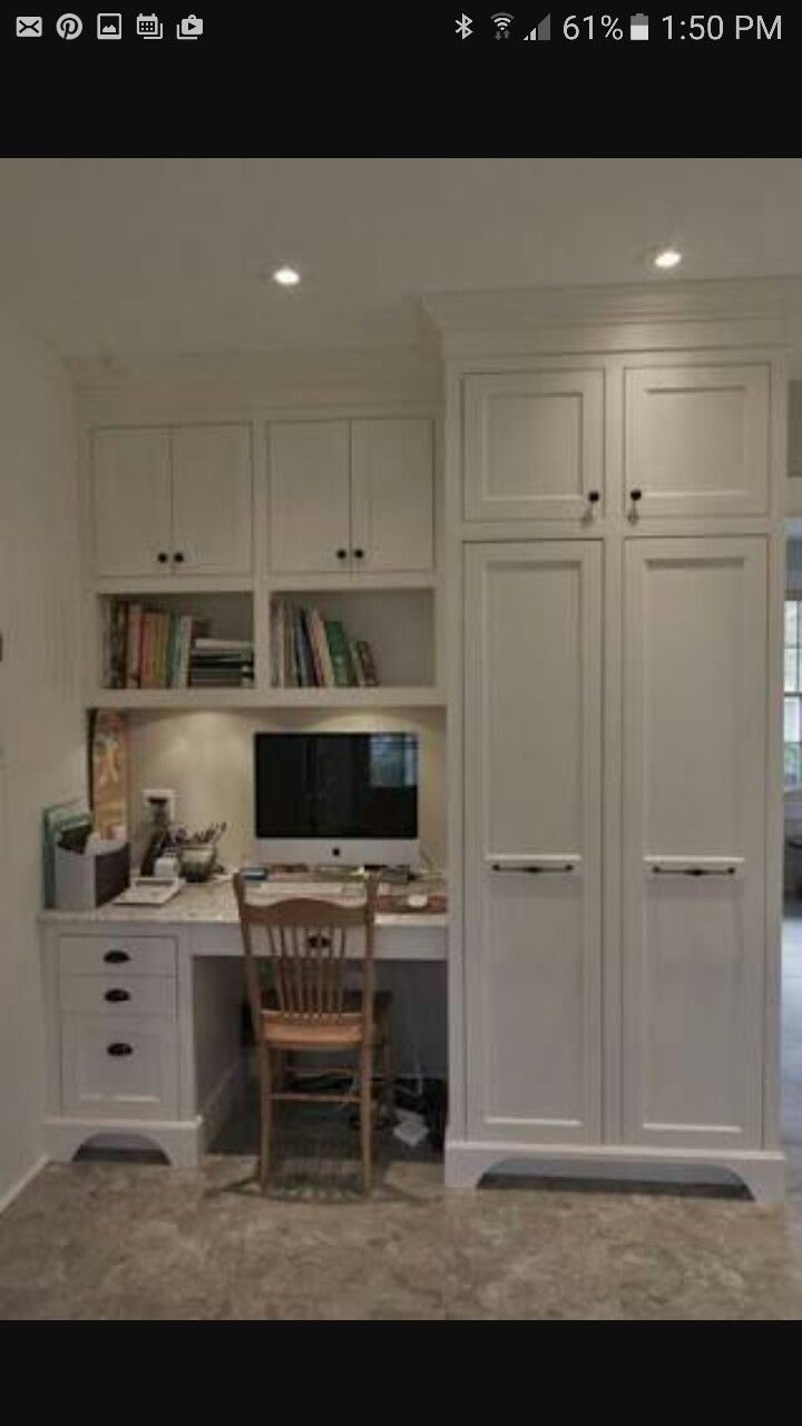 Pin By Kate Brown On Study Room Home Office Design Office Built Ins Built In Desk