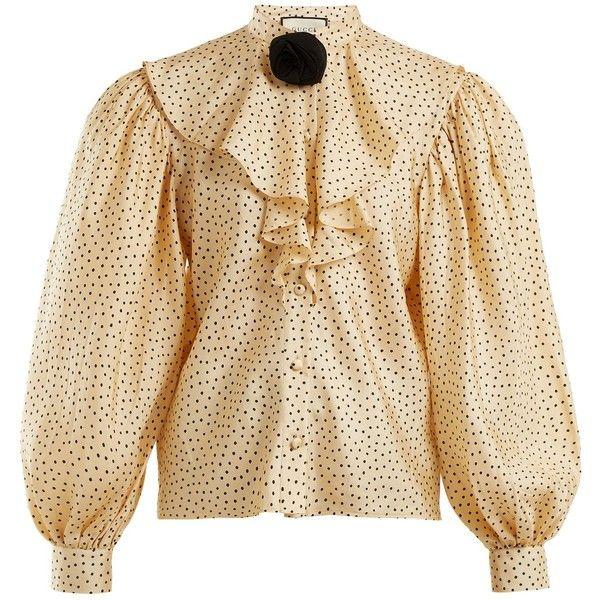 32fe676aa0b2e Gucci Polka-dot print silk-twill shirt ( 1