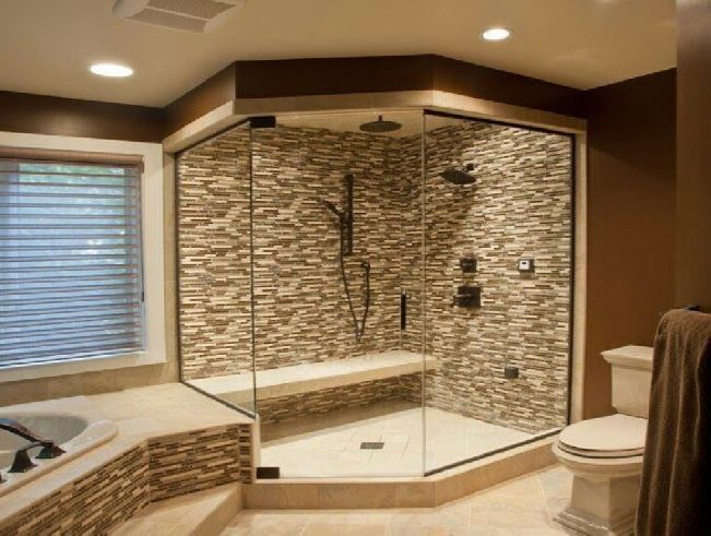 Master bath shower designs master bathroom shower ideas for Diy master bathroom ideas