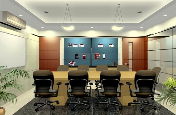 luxurious commercial office interior design ideas with formal chairs