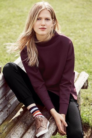 Buy Berry Longline Technical Sweater from the Next UK online shop