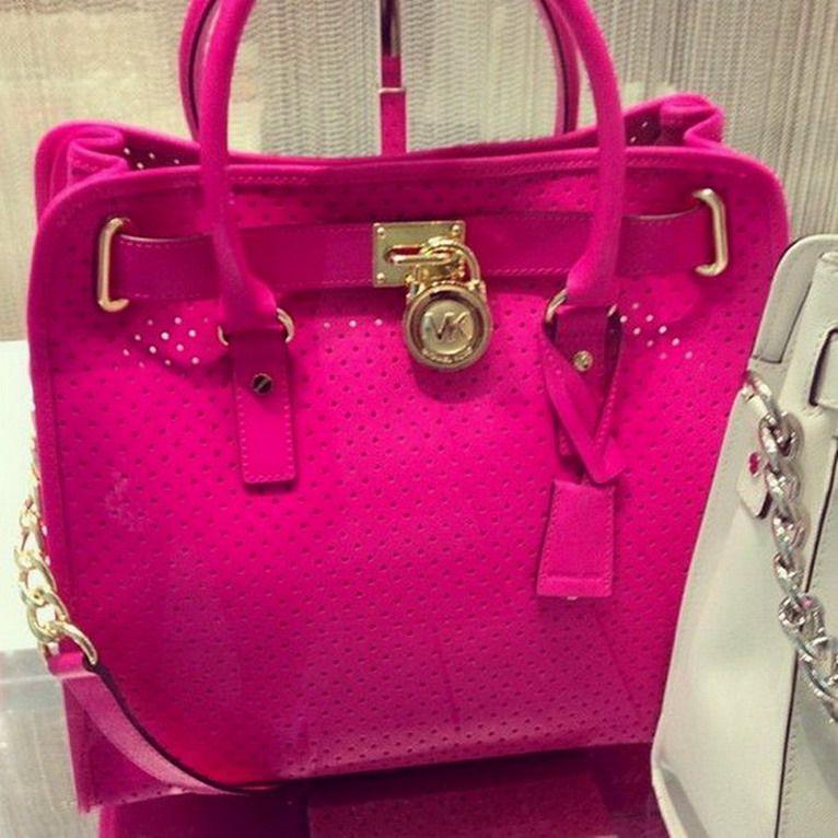 Hot Pink Is The Best Color Michael Kors Handbags