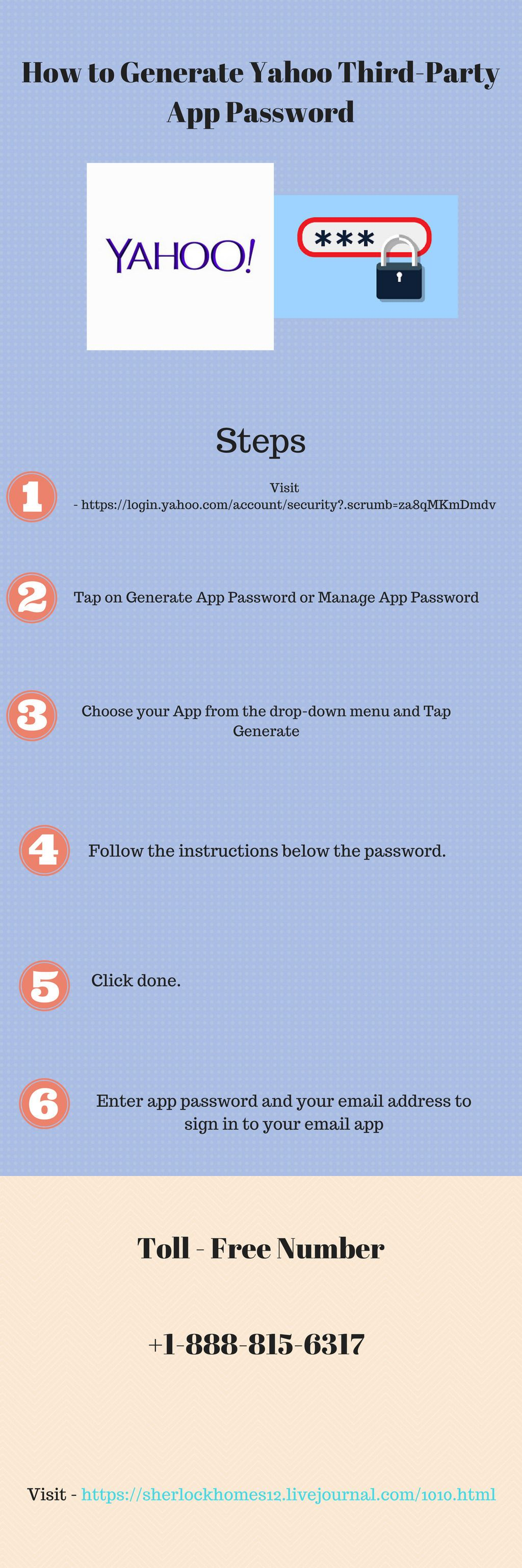 How to Generate Yahoo ThirdParty App Password App