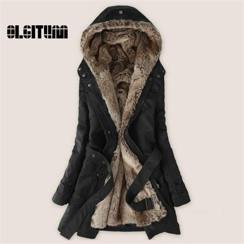 여성의 겨울 코트 여성 의류 양고기 울 재킷 두껍게 따뜻한 후드 파카 외투 플러스 사이즈 XXXL CD161