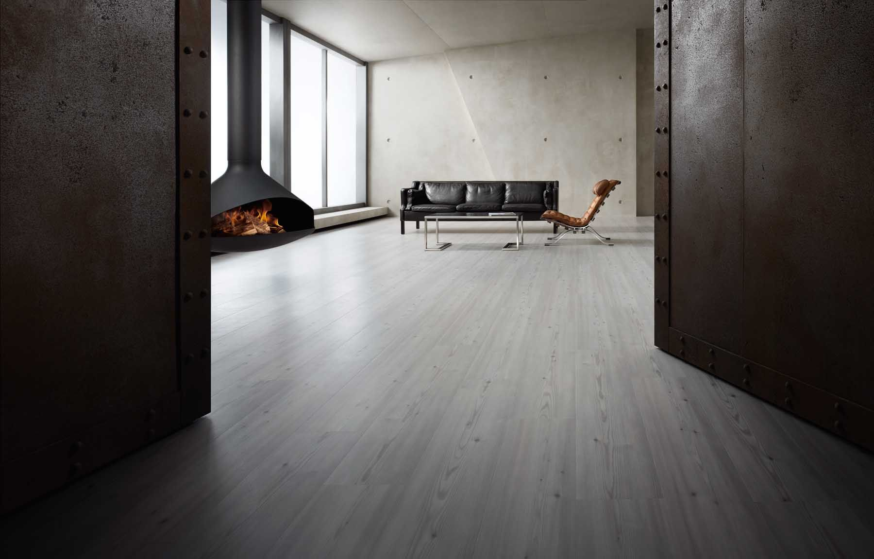 Beautiful grey floors! A modern Amtico living room