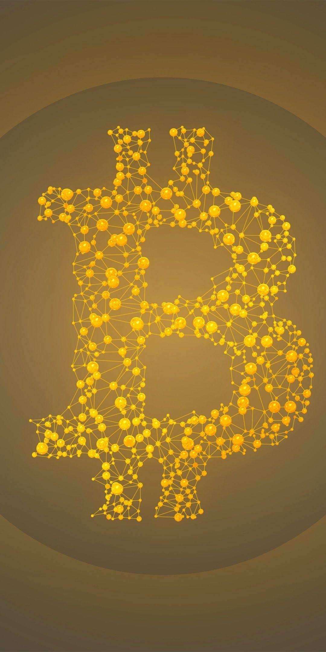 Minimal Artwork Bitcoin 1080x2160 Wallpaper Wallpaper