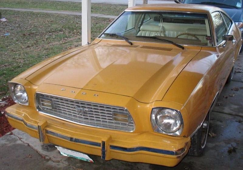 Medium Goldenrod 1974 Mustang Ii Hatchback Mustang Ii Mustang Hatchback