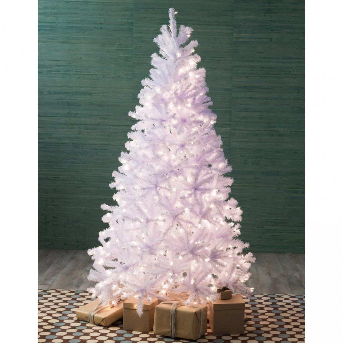 National Tree 7ft PreLit North Valley Spruce Hinged