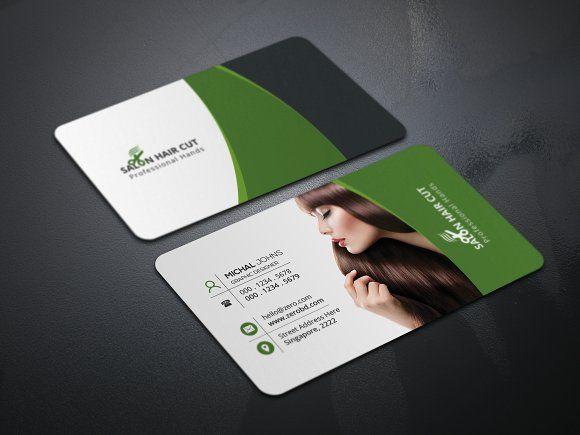 Salon Business Card By Creative Idea On Creativemarket Salon Business Cards Business Cards Creative Templates Business Cards Creative