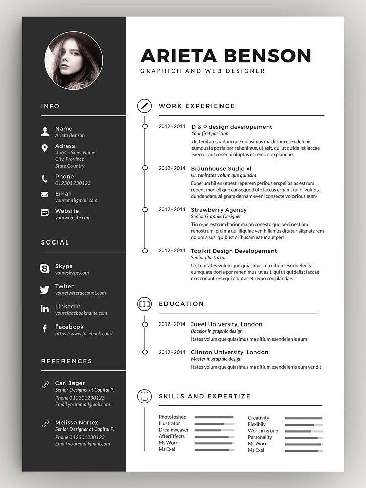 Clean cvresume graphic design resume architecture