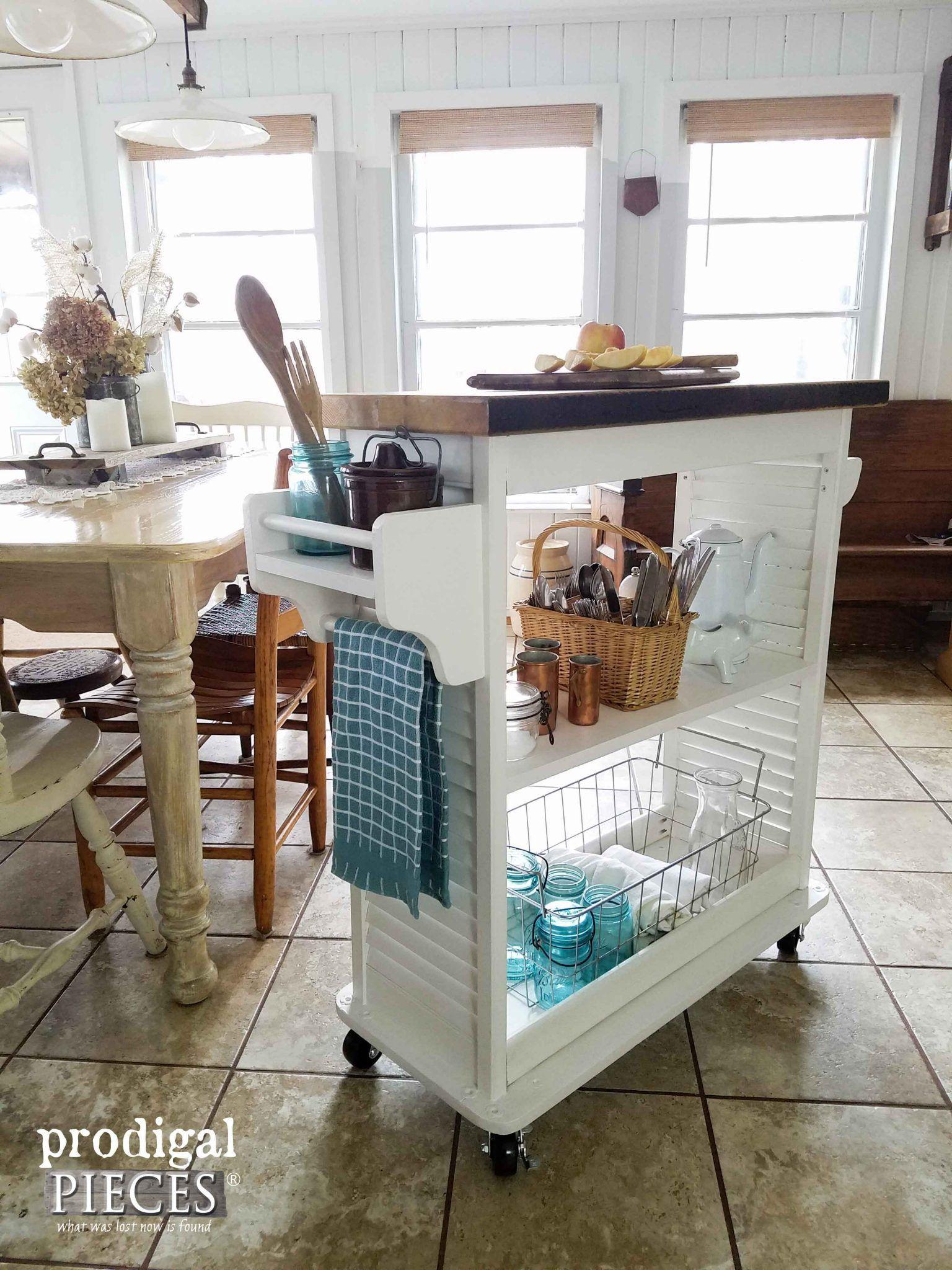 Kitchen Island Cart from Repurposed Materials | Kitchen | Pinterest ...