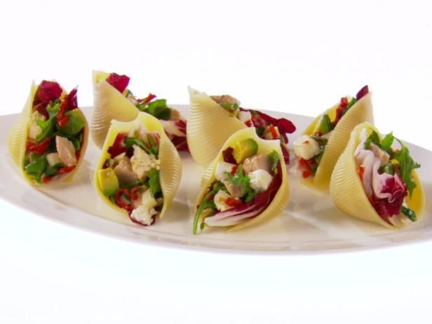 Shells filled with chicken chopped salad recipe chopped salad get giada de laurentiiss shells filled with chicken chopped salad recipe from food network forumfinder Choice Image
