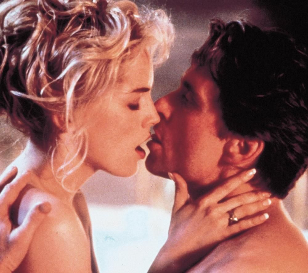 Michael Douglas and Sharon Stone sex scene in Basic Instinct. http://www.dazeddigital.com/artsandculture/article/18001/1/sex-in-sinema
