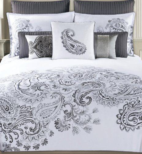 Tahari Sheets Sale: Tahari Home Dragon Paisley Luxury Cotton Duvet Cover Set