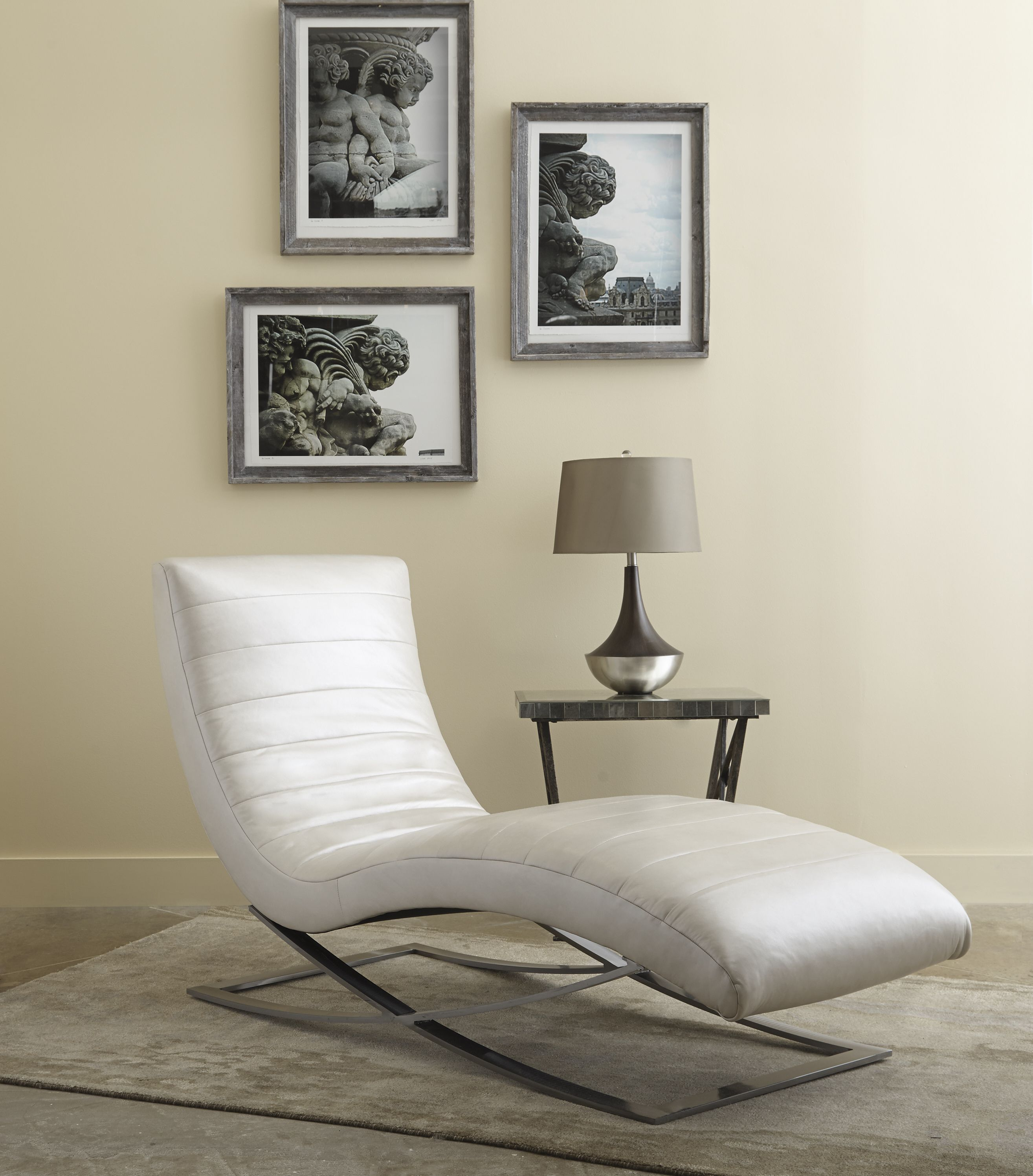 Norwalk Furnitureu0027s Harlow Chaise Is A Comfortable And Modern Chair On A  Sleek Metal Frame.