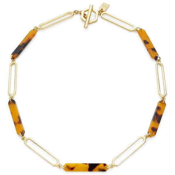 Lauren Ralph Lauren Faux Tortoiseshell Necklace ($68) ❤ liked on Polyvore