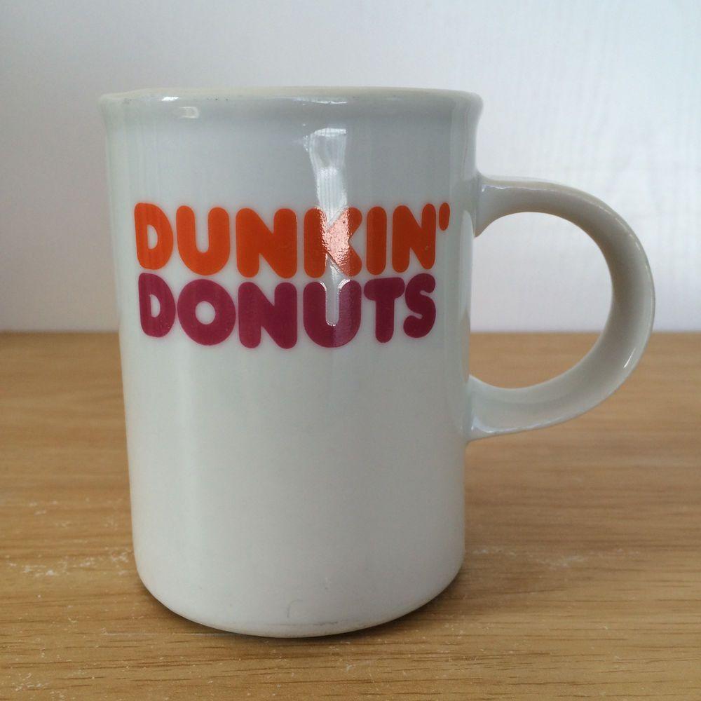 691b70ac1ab Dunkin' Donuts Coffee Mug Danesco Canada White Colored Print ...