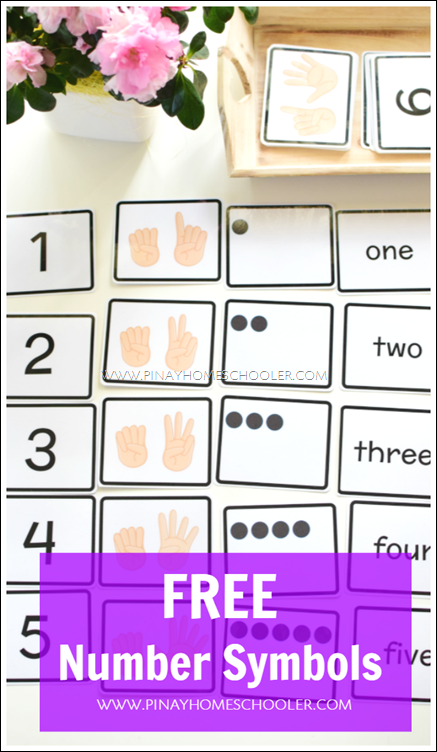 Free Number Symbols For Counting And Number Recognition Pinterest
