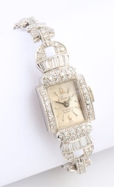 Platinum and Diamond Watch.