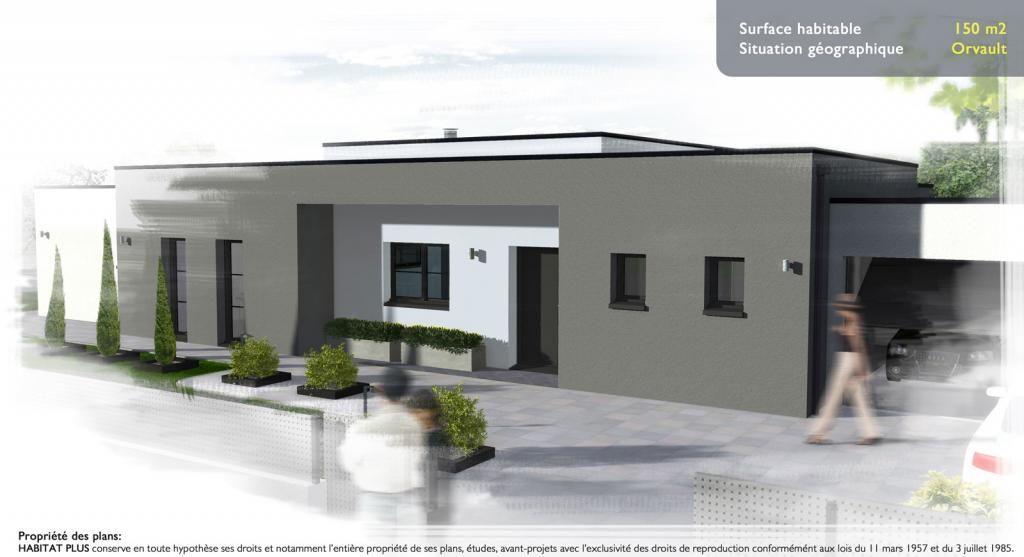 Création architecturale Habitat Plus APS032T de 150 m² habitables à