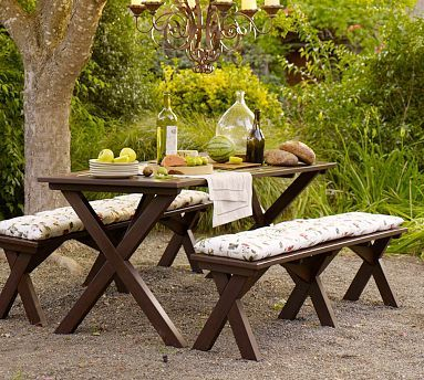 Take It Out Pinterest Picnic Tables Picnics And Bench - Pottery barn picnic table