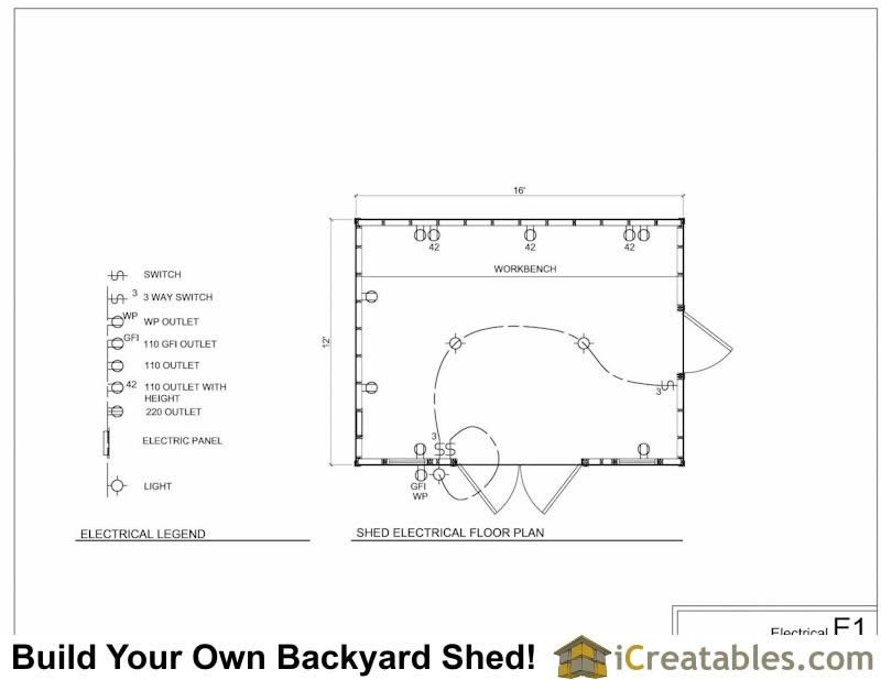How To Wire A Backyard Shed Orbasement Shed Wiring Plans And Diagram Will This Work Bartle Doo Artic Shed Floor Plans Storage Shed Plans Wooden Storage Sheds