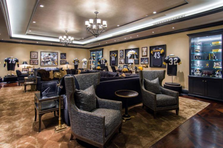 20 amazing sports themed basement designs ultimate man on incredible man cave basement decorating ideas id=68072