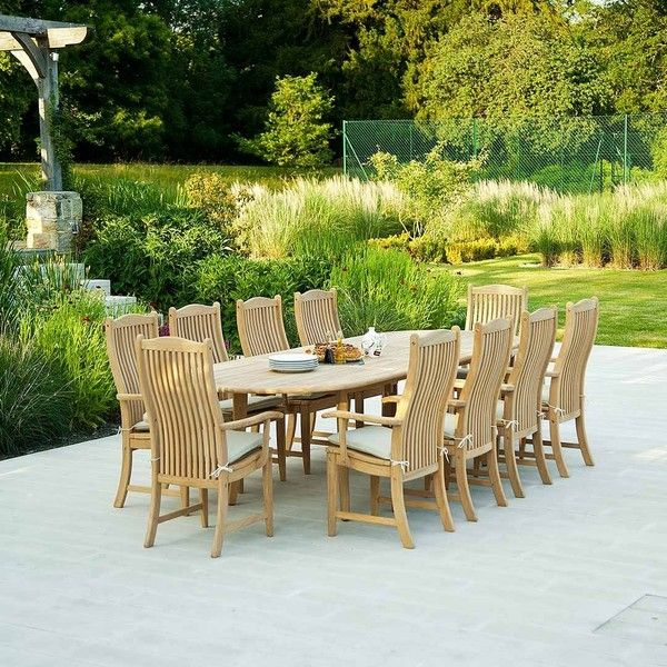 Roble Extending Garden Dining Table (25,085 MXN) ❤ liked on Polyvore featuring home, outdoors, patio furniture, outdoor tables, garden patio furniture, outdoor garden table, expandable outdoor table, expandable patio table and garden table