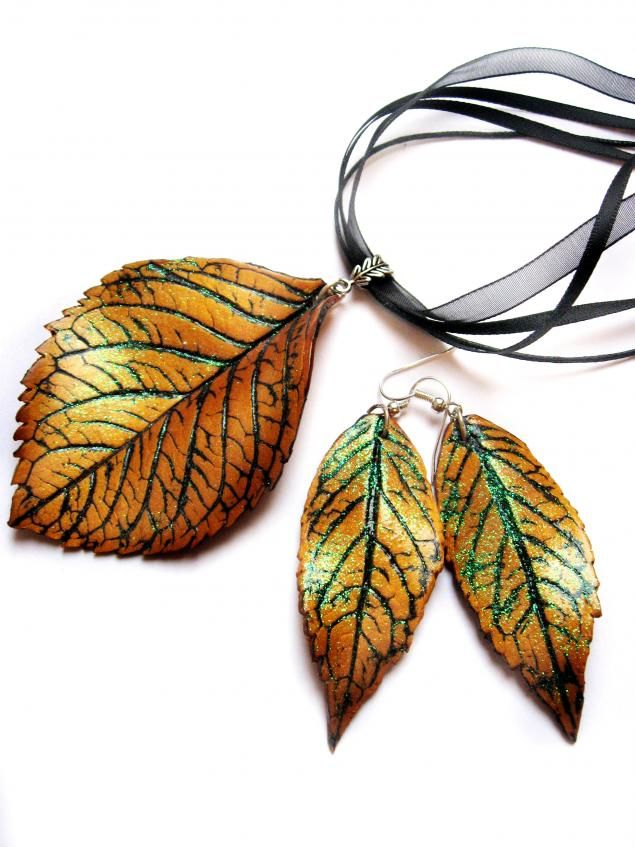 How to make such leaves.  #Polymer #Clay #Tutorials