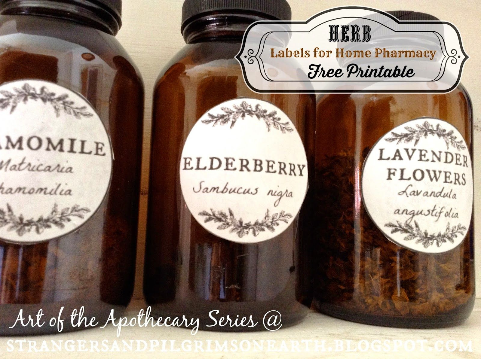 Apothecary Herb Labels Free Printable Home Pharmacy