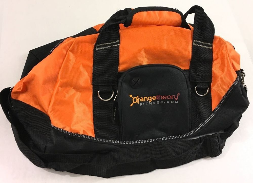 aac0b623dcea Orange Theory Fitness Duffle Gym Bag Orange Black Shoulder Strap   OrangeTheoryFitness