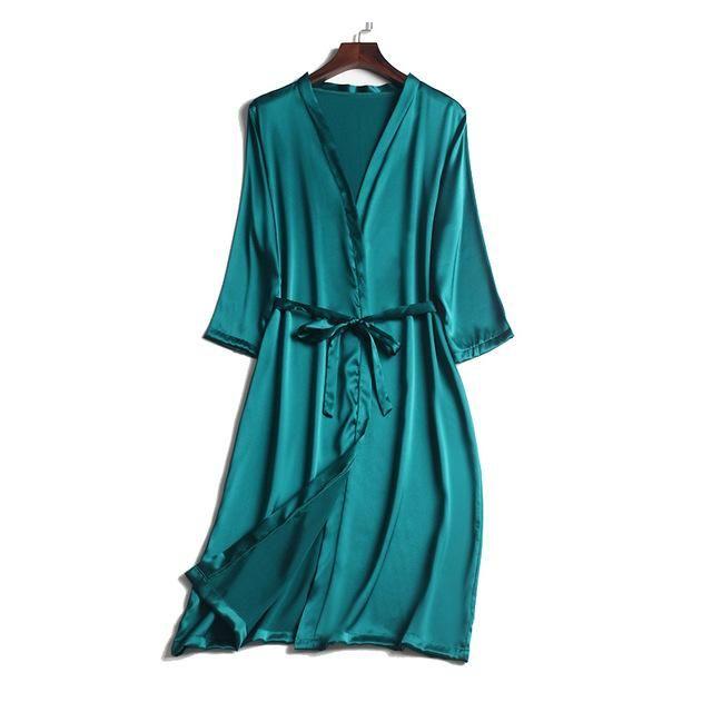 100% Natural silk Women Robe