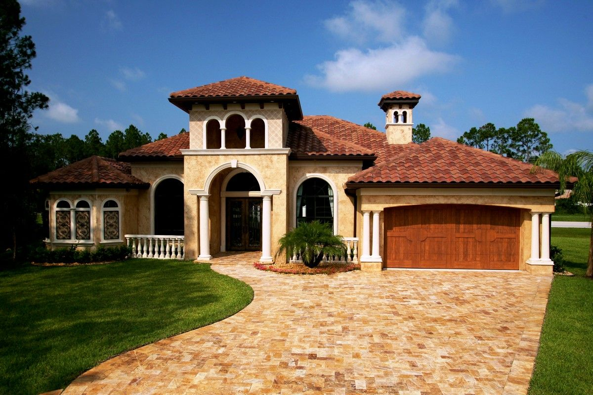 Tuscan style one story homes tuscan style house plans for Tuscan roof house plans