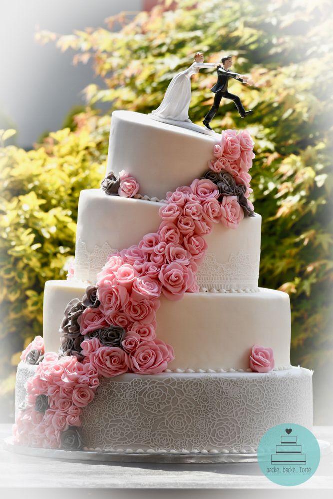 Hochzeitstorte Motivtorte Zur Hochzeit Essbare Rosen 4