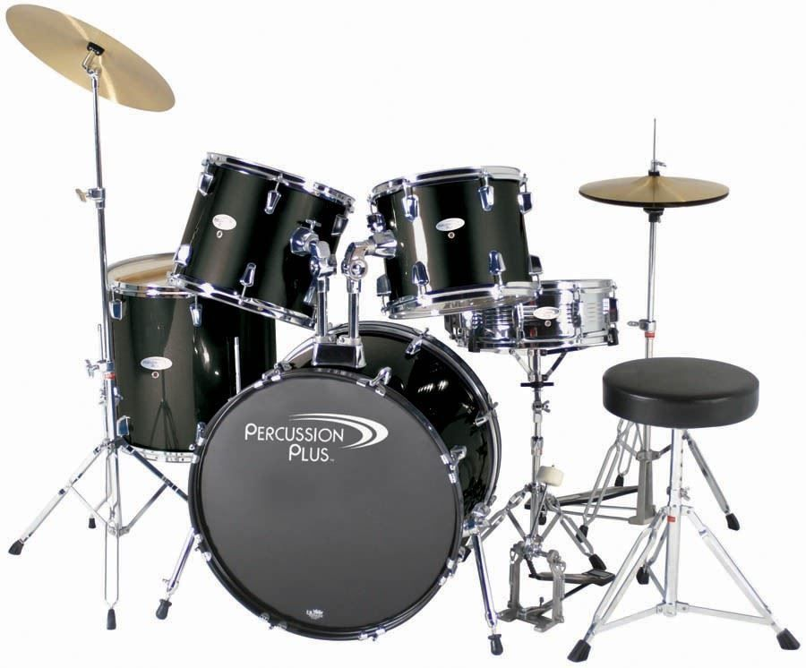 the percussion plus 5 piece drum set is a complete drum kit in a black finish offering 9 ply. Black Bedroom Furniture Sets. Home Design Ideas
