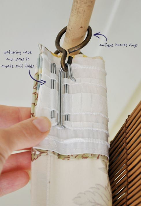DIY Curtains With IKEA Gathering Tape And Hooks | The Painted Hive (Cintas  Funcidoras O