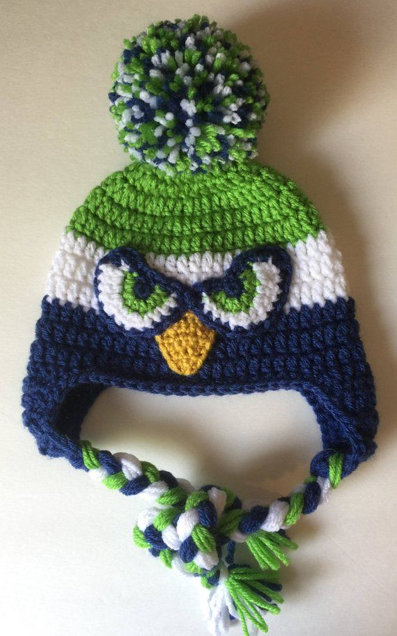 Football  Sport team Beanie  Hat with Pom Pom - All Sizes - Seattle Seahawks ac9081963a5