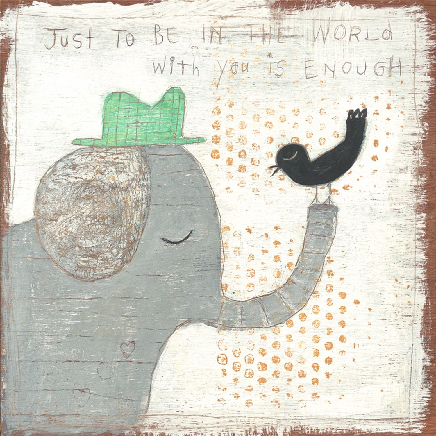 In The World With You Art Print Sugarboo Designs Art Elephant Art Art Prints