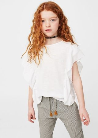Camiseta detalle volante | MANGO KIDS